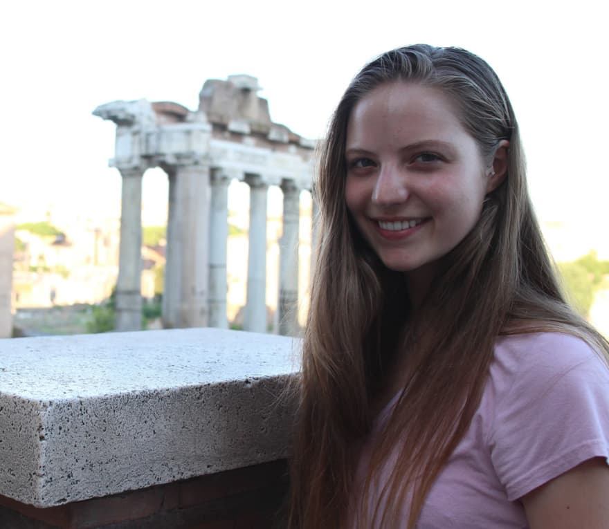 Gettysburg College premed at the Roman Forum