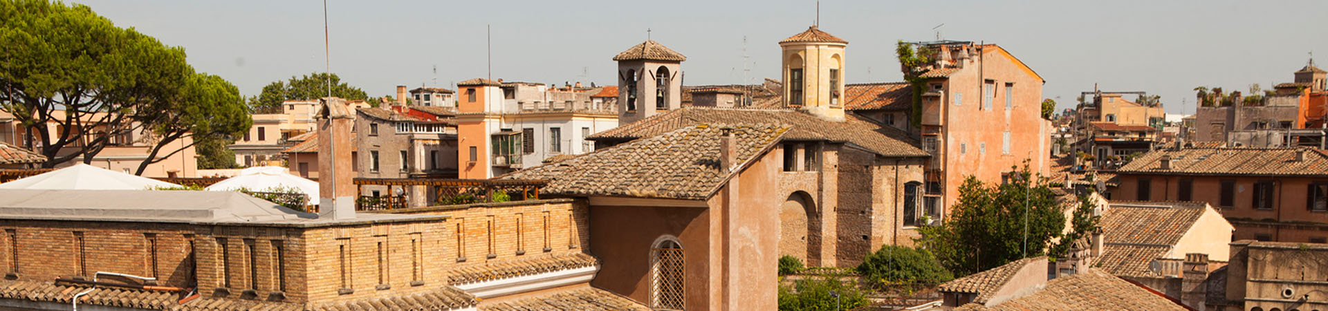 the roofs of Trastevere in Rome